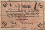 10 Pfennig (Oldenburg) – revers