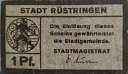 1 Pfennig (Oldenburg; Stadt Rüstringen) – avers