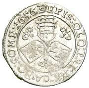 3 kreuzer Leopold Wilhelm d'Autriche – revers