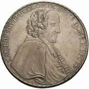 1 thaler Jakob Ernst von Liechtenstein-Kastelkorn – avers