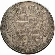 1 thaler Jakob Ernst von Liechtenstein-Kastelkorn – revers