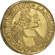 1 Ducat - Karl II von Liechtenstein-Kastelkorn – avers