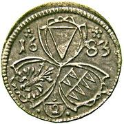 ½ Kreuzer - Karl II von Liechtenstein-Kastelkorn – avers