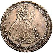 ½ thaler Jakob Ernst von Liechtenstein-Kastelkorn – avers