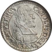 3 kreuzer Karl II. von Liechtenstein-Kastelkorn – avers