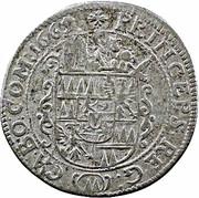 6 kreuzer Karl II von Liechtenstein-Kastelkorn – revers