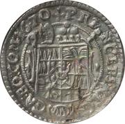 3 kreuzer Karl II. von Liechtenstein-Kastelkorn – revers