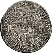 3 kreuzer Karl II von Liechtenstein-Kastelkorn – revers