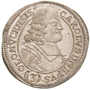3 Kreuzer - Karl II von Liechtenstein-Kastelkorn (Kremsier) – avers