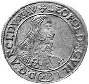 15 kreuzer Léopold Guillaume d'Autriche – avers