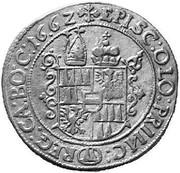 15 kreuzer Léopold Guillaume d'Autriche – revers
