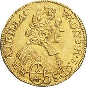 ¼ ducat Wolfgang von Schrattenbach – avers