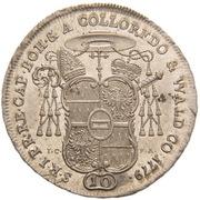 10 Kreuzer - Anton Theodor of Colloredo-Waldsee – revers