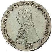 20 Kreuzer - Rudolph Johann – avers