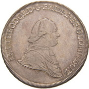 1 Thaler - Anton Theodor of Colloredo-Waldsee – avers