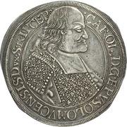 1 Thaler - Karl II von Liechtenstein-Kastelkorn – avers