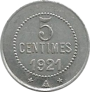 5 centimes cave coopérative d'Olonzac [34] – revers