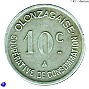 10 centimes - coopérative de consommation Olonzagaise - Olonzac [34] – revers