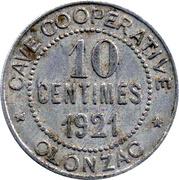 10 centimes - cave coopérative d'Olonzac [34] – avers