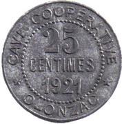 25 centimes - cave coopérative d'Olonzac [34] – avers