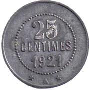 25 centimes - cave coopérative d'Olonzac [34] – revers