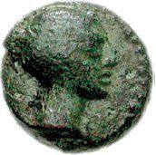 Bronze Æ9 (Olous) – avers