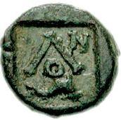 Bronze Æ9 (Olous) – revers