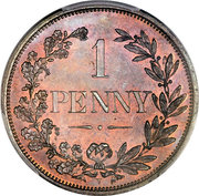 1 penny (État libre d'Orange, essai) – revers