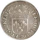 1 ecu - Guillaume IX – revers