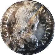 1/12 écu Guillaume-Henri De Nassau – avers