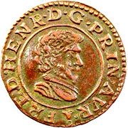 Double-Tournois Frédéric-Henri de Nassau (Type 2) – avers