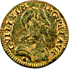Denier-Tournois Guillaume IX de Nassau (Type 2) – avers