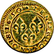 Denier-Tournois Guillaume IX de Nassau (Type 2) – revers