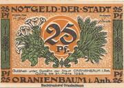 25 Pfennig (Oranienbaum) -  avers