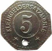 5 Pfennig - Oschersleben – revers