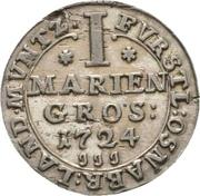 1 mariengroschen Ernst August II. de York – revers