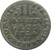 2 mariengroschen Ernst August II. de York – revers