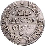 12 Mariengroschen - Ernst August I. – revers