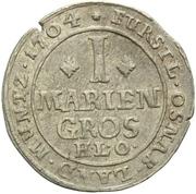 1 Mariengroschen - Karl von Lothringen – revers