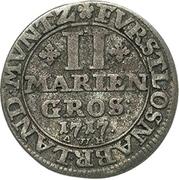 2 Mariengroschen - Ernst August II. – revers