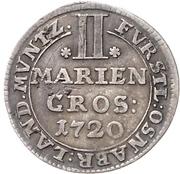 2 Mariengroschen - Ernst August II. von York – revers