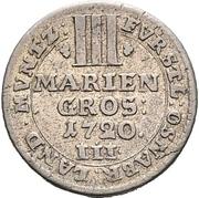 3 Mariengroschen - Ernst August II. von York – revers