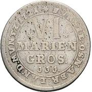 6 Mariengroschen - Ernst August II. von York – revers
