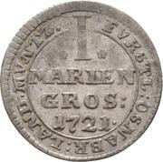 1 Mariengroschen - Ernst August II. von York – revers