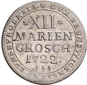12 Mariengroschen - Ernst August II. von York – revers