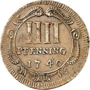 4 Pfennig - Domkapitel – revers