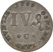 4 Pfennig - Friedrich von York – revers