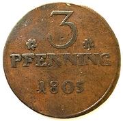 3 pfenning – revers