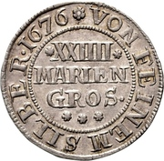 24 Mariengroschen - Ernst August I. – revers