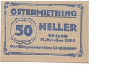 50 Heller (Ostermiething) – avers